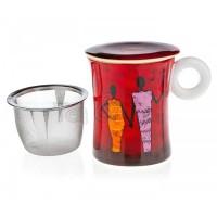 Kubek Kariba z zaparzaczem i pokrywką 300ml Tea Logic