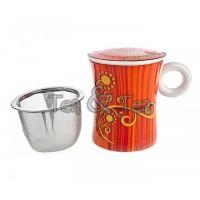 Kubek Shangrilla z zaparzaczem i pokrywką 300ml Tea Logic
