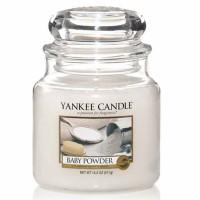 Świeca średnia Yankee Candle Baby Powder