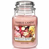 Świeca duża Yankee Candle Fresh Cut Roses
