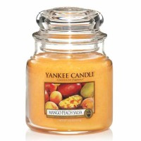 Świeca średnia Yankee Candle Mango Peach Salsa
