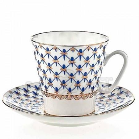 Filiżanka espresso Siatka Kobaltowa 80ml Łomonosov