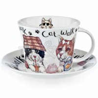Filiżanka śniadaniowa Animal Fashion Cat 450ml Roy Kirkham