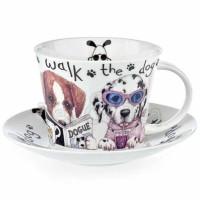 Filiżanka śniadaniowa Animal Fashions Dog 450ml Roy Kirkham