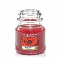 Świeca średnia Yankee Candle True Rose