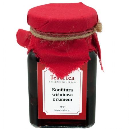 Konfitura wiśnia z rumem 200g TeaTea