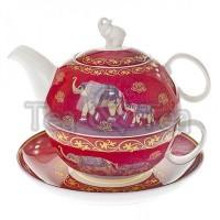 Tea for one Nelson Słoń zestaw filiżanka 250ml z dzbankiem Tea Logic