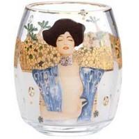 Szklany świecznik Judyta Gustaw Klimt Goebel