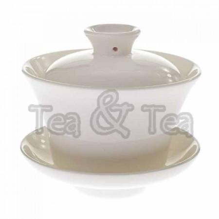 Czarka Gaiwan z przykrywką biała 120ml Tea Logic