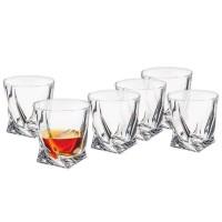Komplet 6 szklanek Quadro 340ml seria Bohemia Quadro