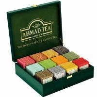 Skrzynka drewniana z herbatami 12 smaków 120 torebek AhmadTea