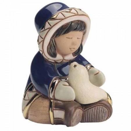 Figurka Dziewczynka z foką 11 cm De Rosa Rinconada