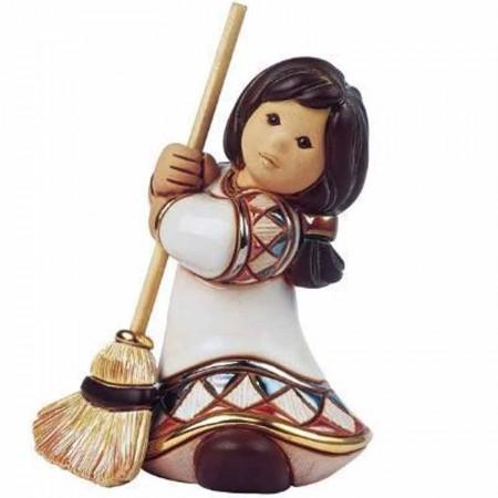 Figurka Dziewczynka z miotłą 13 cm De Rosa Rinconada