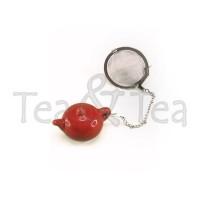 Zaparzaczka zawieszka czajnik, czerwona 4,5 cm Cha Cult
