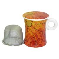 Kubek Ogień z zaparzaczem i pokrywką 300ml Tea Logic
