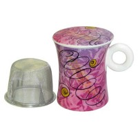 Kubek Powietrze z zaparzaczem i pokrywką 300ml Tea Logic