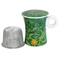 Kubek Ziemia z zaparzaczem 300ml Tea Logic
