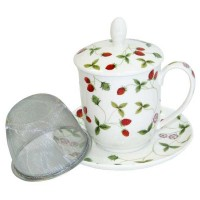 Kubek Mirella z zaparzaczem i pokrywką 350ml Tea Logic