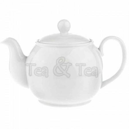 Dzbanek Elisabeth z zaparzaczem biały 1,0l Tea Logic