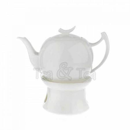 Dzbanek Epsilon z podgrzewaczem biały 1,0l Tea Logic
