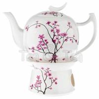 Dzbanek Kwiat Wiśni z podgrzewaczem 1,0l Tea Logic