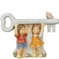 Figurka All the Best For the New Home 17x13cm Nina i Marco Goebel