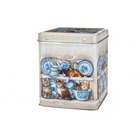 Puszka Koty na półce z niebieską porcelaną 100g Cha Cult