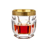 Komplet 6 szklanek do whisky 250 ml seria Bohemia Safari Gold