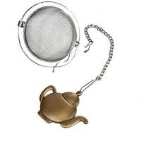 Zaparzaczka na łańcuszku czajniczek brąz 4,5 cm Cha Cult