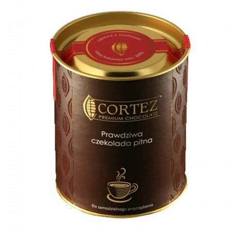 Czekolada do picia ciemna z malinami 200g Cortez