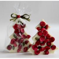Choinka z białej czekolady z żurawiną i pistacją 65g Cortez