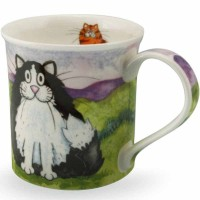 Kubek Bute Comical Cats Black and White 250ml Dunoon