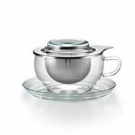 Filiżanka szklana Tea Time stalowy zaparzacz 300ml Jena