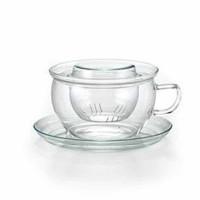 Filiżanka szklana Tea Time szklany zaparzacz 300ml Jena