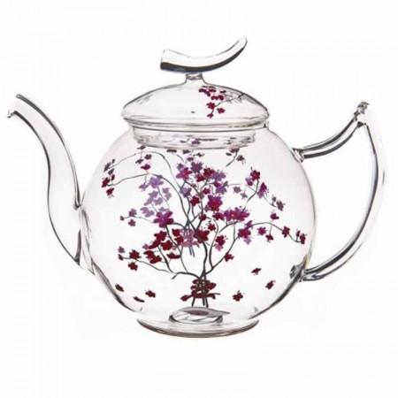 Dzbanek szklany Kwiat Wiśni 1,5l Tea Logic