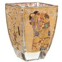 Świecznik szklany Spełnienie 11 cm Gustaw Klimt  Goebel