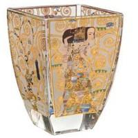 Świecznik szklany Oczekiwanie 11 cm Gustaw Klimt 11 cm Goebel