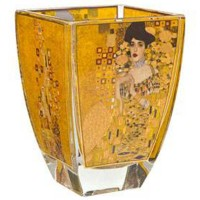 Świecznik szklany Adela 11 cm Gustaw Klimt Goebel