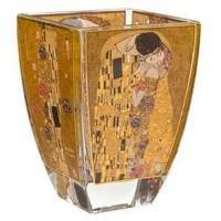 Świecznik szklany Pocałunek 11 cm Gustaw Klimt  Goebel
