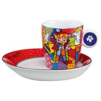 Filiżanka espresso Hug Too 100ml Romero Britto Goebel