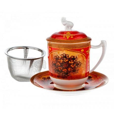 Kubek Chandra z zaparzaczem i pokrywką 350ml Tea Logic