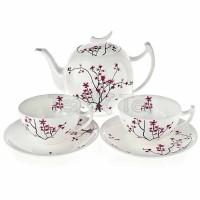 Zestaw Kwiat Wiśni dwie filiżanki z dzbankiem Tea Logic