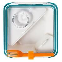 Lunch box BOX APPETIT biało-niebieski Black + Blum