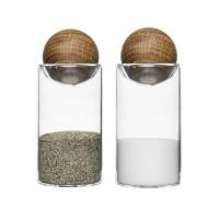 Zestaw do soli i pieprzu Oval Oak Sagaform