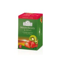 Herbata w saszetkach alu Strawberry & Kiwi Green Tea 20szt AhmadTea