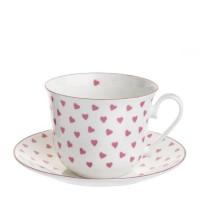 Filiżanka śniadaniowa Heart Pink 450ml Roy Kirkham