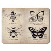 Podkładki Vintage Bugs CT  40 x 29 cm, 4 szt