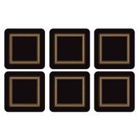 Podkładki Black Classic 10.5x10.5 cm Pimpernel