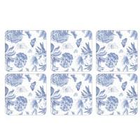 Podkładki Botanic Blue 10.5x10.5 cm Pimpernel
