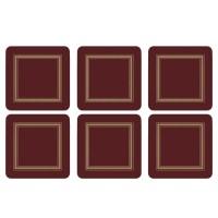 Podkładki Burgundy Classic 10.5x10.5 cm Pimpernel